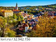 Купить «Cesky Krumlov cityscape with Castle, Czech Republic», фото № 32942156, снято 15 июля 2020 г. (c) Яков Филимонов / Фотобанк Лори