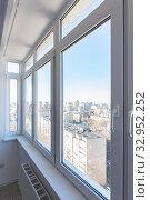 Купить «View of new plastic windows in the apartment», фото № 32952252, снято 16 января 2020 г. (c) Иванов Алексей / Фотобанк Лори