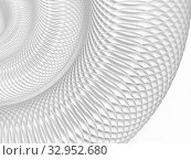 Купить «Abstract parametric background with round spiral structure of white circles», иллюстрация № 32952680 (c) EugeneSergeev / Фотобанк Лори
