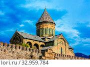 Svetitskhoveli Cathedral in the historic town of Mtskheta, Georgia. Стоковое фото, фотограф Zoonar.com/monticello / easy Fotostock / Фотобанк Лори