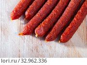Tyrolean hunter sausages. Стоковое фото, фотограф Яков Филимонов / Фотобанк Лори