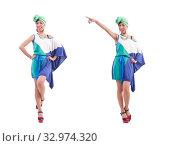 Купить «Girl preparing for summer vacation», фото № 32974320, снято 24 мая 2013 г. (c) Elnur / Фотобанк Лори