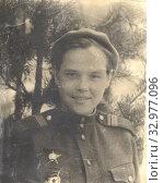 Сержант Катя. 10.04.1945. Германия. Стоковое фото, фотограф Retro / Фотобанк Лори
