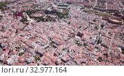 Panoramic aerial view of Merida cityscape, Spain (2019 год). Стоковое видео, видеограф Яков Филимонов / Фотобанк Лори