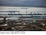 Top view of the seaport and the Bay in Capetown (2017 год). Стоковое фото, фотограф Олег Елагин / Фотобанк Лори