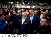 Купить «Secretary of Democratic party Nicola Zingareti (R) and Stefano Bonaccini, candidate of the center-left for the presidency of Emilia Romagna at the closer...», фото № 32977860, снято 23 января 2020 г. (c) age Fotostock / Фотобанк Лори