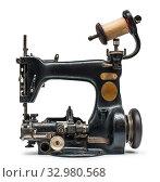 Купить «Vintage sewing machine white isolated.», фото № 32980568, снято 20 ноября 2013 г. (c) easy Fotostock / Фотобанк Лори