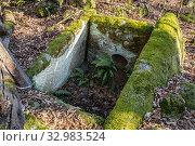 Купить «Краснодарский край, Туапсинский район, разрушенный дольмен в урочище Казачья Щель», фото № 32983524, снято 20 января 2020 г. (c) glokaya_kuzdra / Фотобанк Лори