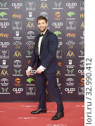 Pablo Alboran attends 34th Goya Cinema Awards 2020 - Red Carpet at Jose Maria Martin Carpena Stadium on January 26, 2020 in Malaga, Spain. Редакционное фото, фотограф Manuel Cedron / age Fotostock / Фотобанк Лори