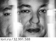 Купить «Morocco, portrait of King Mohamed VI,in a shop, at Casablanca. with 3 eyes.», фото № 32991588, снято 20 ноября 2012 г. (c) age Fotostock / Фотобанк Лори