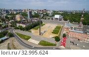 Russia. Rostov-on-Don. Memorial complex in honor of the liberation of Rostov-na-Donu. Theatre Square. (2019 год). Стоковое фото, фотограф Арестов Андрей Павлович / Фотобанк Лори
