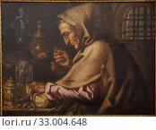 Купить «'Allegory: the sight', Miguel March (ca. 1633-1670), oil on canvas.», фото № 33004648, снято 12 сентября 2019 г. (c) age Fotostock / Фотобанк Лори