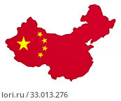 Map china on white background. Isolated 3D illustration. Стоковая иллюстрация, иллюстратор Ильин Сергей / Фотобанк Лори