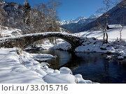 Steinbrücke über die Thur bei Stein SG. Стоковое фото, фотограф Christof Sonderegger / age Fotostock / Фотобанк Лори