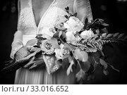 Купить «Bride with bouquet of flowers.», фото № 33016652, снято 5 апреля 2020 г. (c) easy Fotostock / Фотобанк Лори