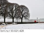 Купить «Saint Petersburg, Russia. Spit of Vasilyevsky Island», фото № 33021428, снято 30 января 2020 г. (c) Знаменский Олег / Фотобанк Лори