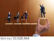 Купить «Gender discrimination concept with promotions», фото № 33028964, снято 19 февраля 2020 г. (c) Elnur / Фотобанк Лори