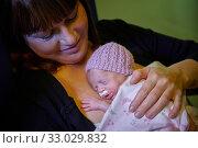 Купить «Mother with baby, mother-kangaroo method, Skin-to-skin contact, Neonatal pediatrics, Medical care, Neonate Intensive care Unit, UVI, ICU, Hospital Donostia...», фото № 33029832, снято 26 ноября 2019 г. (c) age Fotostock / Фотобанк Лори