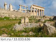 Купить «Храм Афайи, остров Эгина, Греция», фото № 33033636, снято 21 января 2020 г. (c) Ирина Яровая / Фотобанк Лори
