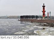 Купить «Saint Petersburg, Russia. Spit of Vasilyevsky Island», фото № 33040056, снято 30 января 2020 г. (c) Знаменский Олег / Фотобанк Лори
