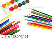 School supplies for drawing. Стоковое фото, фотограф Юлия Бабкина / Фотобанк Лори