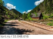 Road in Chocholowska Valley in Tatra mountain range Poland. Стоковое фото, фотограф Zoonar.com/Mjucha / easy Fotostock / Фотобанк Лори