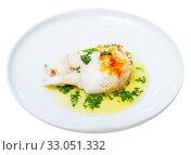 Купить «Fried cuttlefish with green sauce», фото № 33051332, снято 26 февраля 2020 г. (c) Яков Филимонов / Фотобанк Лори