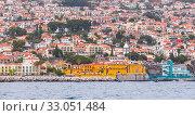Купить «Coastal landscape of Funchal, Capital city of Madeira», фото № 33051484, снято 24 августа 2017 г. (c) EugeneSergeev / Фотобанк Лори