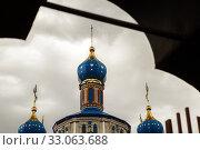 Купить «Church of the Nativity of the Holy Virgin», фото № 33063688, снято 26 июня 2019 г. (c) Владимир Арсентьев / Фотобанк Лори
