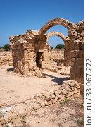 Купить «The remains of Saranta Kolones castle. Paphos Archaeological Park. Cyprus», фото № 33067272, снято 8 июня 2018 г. (c) Serg Zastavkin / Фотобанк Лори
