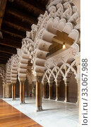 Купить «Interiors of medieval Aljaferia Palace, Zaragoza, Spain», фото № 33067988, снято 1 апреля 2020 г. (c) Яков Филимонов / Фотобанк Лори