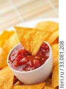 Купить «nachos and tomato dip», фото № 33081208, снято 6 июня 2020 г. (c) PantherMedia / Фотобанк Лори