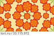 Купить «Digital Floral Pattern», фото № 33115972, снято 18 февраля 2020 г. (c) PantherMedia / Фотобанк Лори