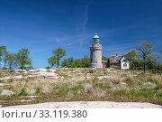 Купить «lighthouse hammeren fyr on bornholm», фото № 33119380, снято 19 февраля 2020 г. (c) PantherMedia / Фотобанк Лори
