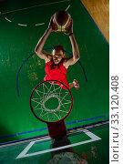 basketball player in action. Стоковое фото, фотограф benis arapovic / PantherMedia / Фотобанк Лори