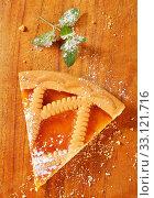 Купить «Lattice topped apricot tart», фото № 33121716, снято 6 июня 2020 г. (c) PantherMedia / Фотобанк Лори