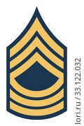 Купить «American Master Sergeant insignia rank badge», фото № 33122032, снято 24 февраля 2020 г. (c) PantherMedia / Фотобанк Лори