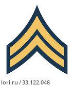 Купить «American Corporal insignia rank badge», фото № 33122048, снято 24 февраля 2020 г. (c) PantherMedia / Фотобанк Лори
