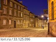Купить «New Town Street and Houses at Night in Warsaw», фото № 33125096, снято 11 июля 2020 г. (c) PantherMedia / Фотобанк Лори