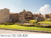 Купить «Ancient fortress in old town Nessebar, Bulgaria», фото № 33125424, снято 26 июня 2019 г. (c) Юлия Бабкина / Фотобанк Лори