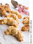 sweetness mini almond croissant. Стоковое фото, фотограф Dzinnik Darius / PantherMedia / Фотобанк Лори