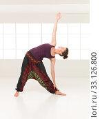 Купить «stretching and strength arms yoga pose», фото № 33126800, снято 27 февраля 2020 г. (c) PantherMedia / Фотобанк Лори