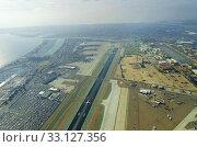 Aerial view of San Diego airport. Стоковое фото, фотограф Sofia Lambrianidou / PantherMedia / Фотобанк Лори