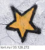 Купить «Star painted on the wall», фото № 33128272, снято 17 февраля 2020 г. (c) PantherMedia / Фотобанк Лори