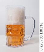 Lager beer glass. Стоковое фото, фотограф Claudio Divizia / PantherMedia / Фотобанк Лори