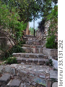 Купить «stone steps with ancient symbols», фото № 33131292, снято 9 июля 2020 г. (c) PantherMedia / Фотобанк Лори