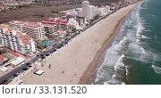 Купить «Hotels at sea side in Penisola town. Valencia, Spain», видеоролик № 33131520, снято 16 апреля 2019 г. (c) Яков Филимонов / Фотобанк Лори