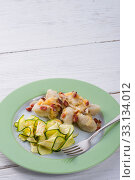 Купить «silesian dumplings with bacon and zucchini», фото № 33134012, снято 1 апреля 2020 г. (c) PantherMedia / Фотобанк Лори