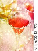 Купить «Red cocktail with salt», фото № 33134776, снято 17 февраля 2020 г. (c) PantherMedia / Фотобанк Лори
