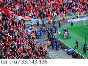 Купить «LONDON - APRIL 14 : Supporters watch the football game of Liverpool - Everton Semi Final FA Cup Crowd at Wembley Arena Staduim on April 14, 2012 in London, England United Kingdom.», фото № 33143136, снято 14 апреля 2012 г. (c) age Fotostock / Фотобанк Лори